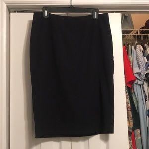 Dark Navy Midi Skirt